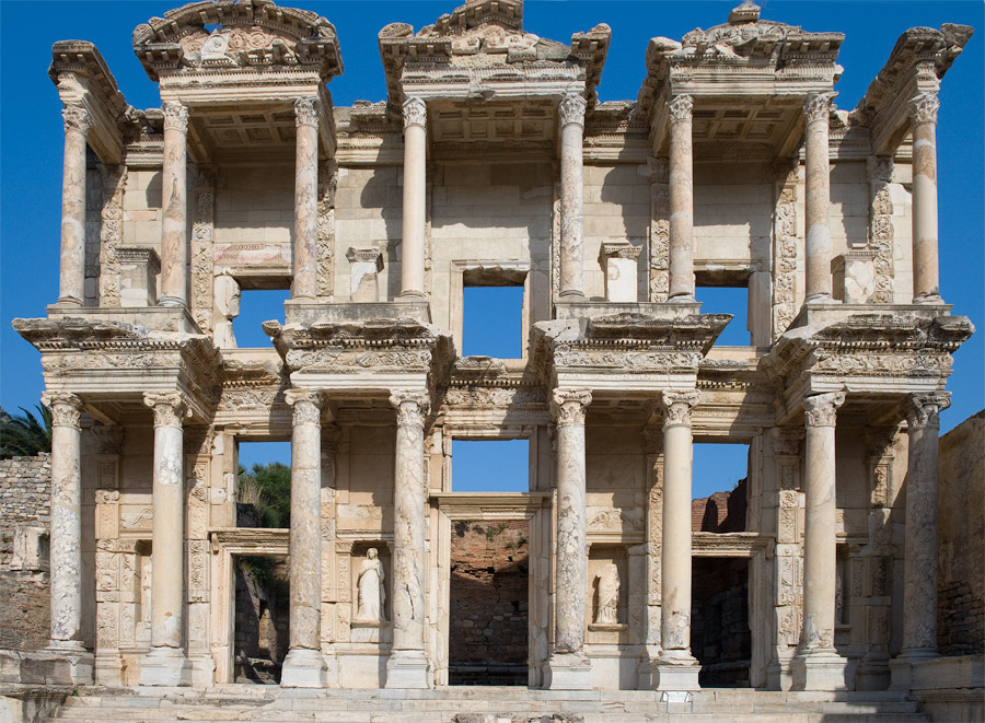the celsus library in ephesus dating from 135 adm